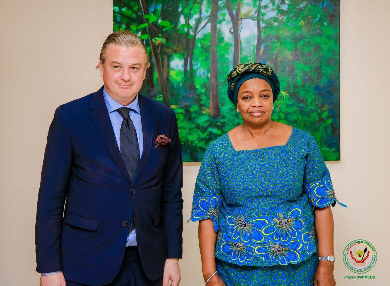 Environnement : Eve Bazaiba échange sur les questions environnementales avec l'ambassadeur de la suède en RDC