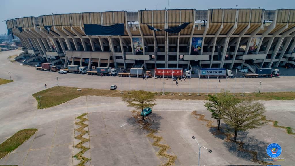 RDC/SPORT : 7 containers de la pelouse synthétique sur 13 prévus, déjà à Kinshasa