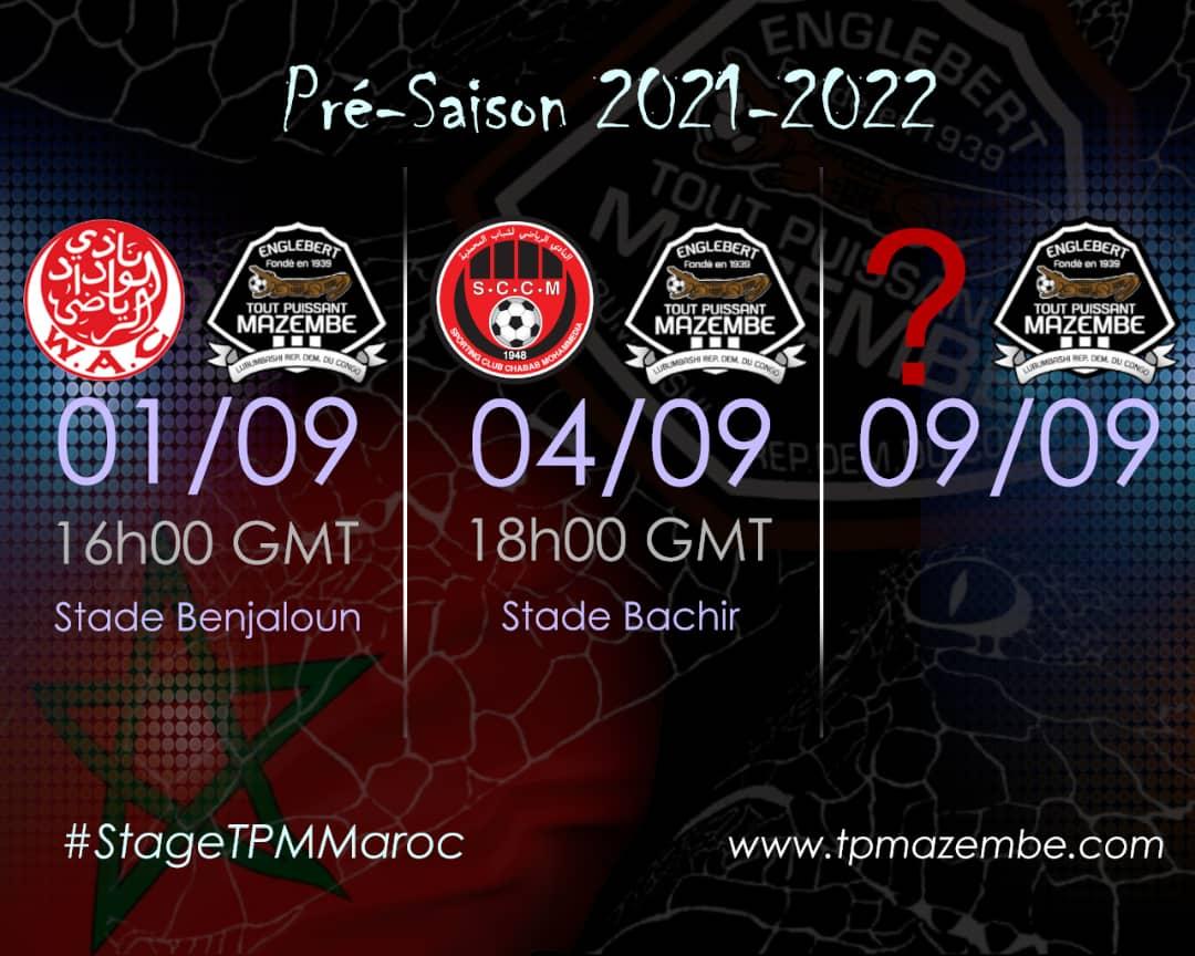 Sport: TP Mazembe prévoit 3 rencontres pour son stage de pré-saison au Maroc